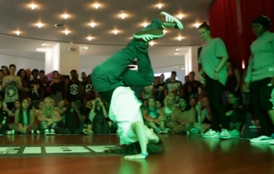 IBE 2013 - 2on2 BGirl Battle Quarter Final - Angel & Bo vs Roza & Regine